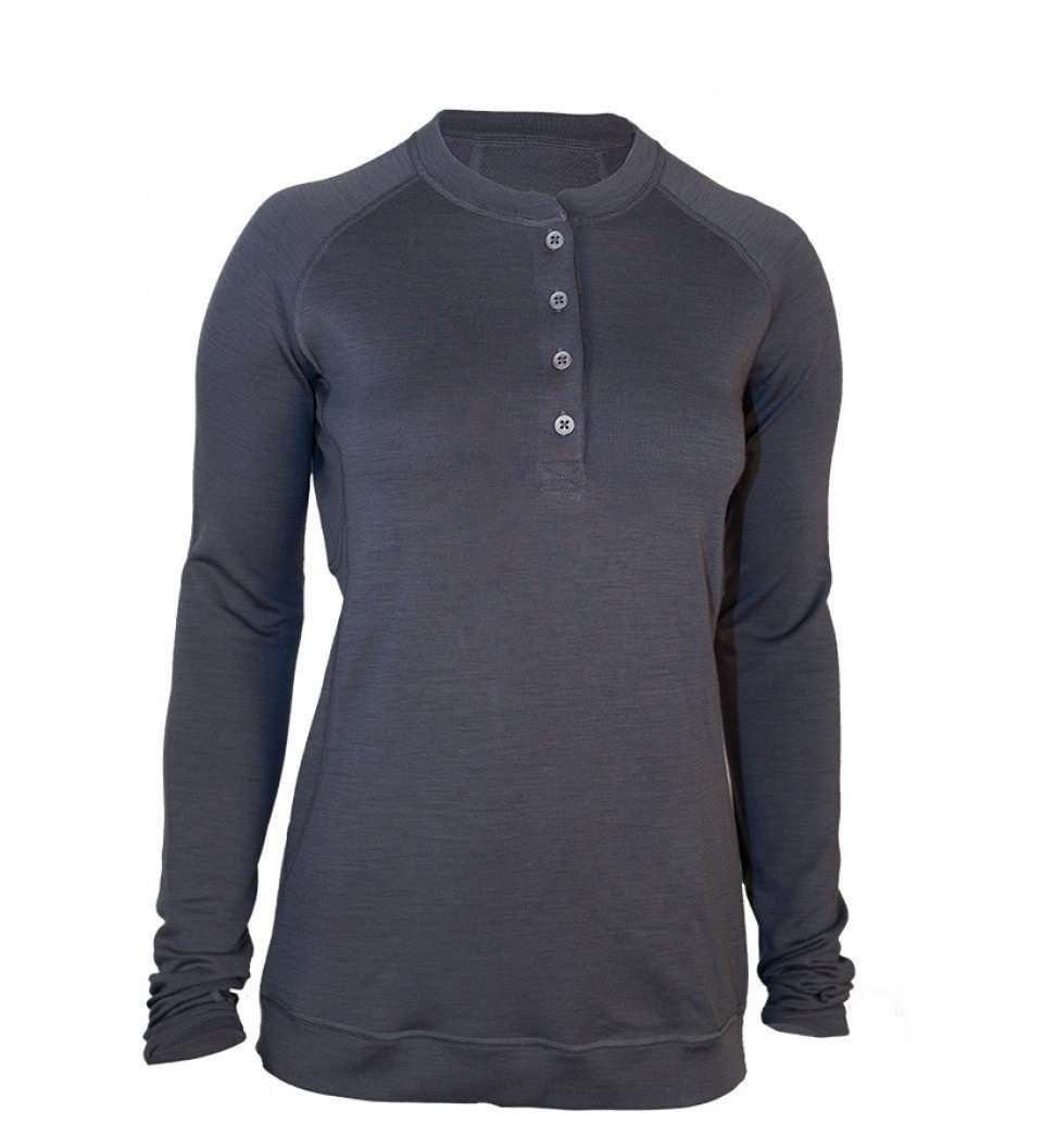 Women's Bamboo-Merino Long Sleeve Sport Henley Shirt