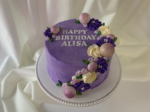Birthday cake - Purple