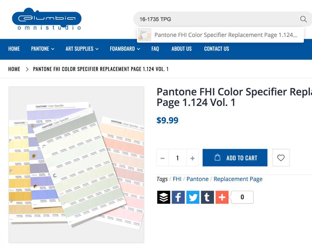 Pantone TPG Replacement Pages
