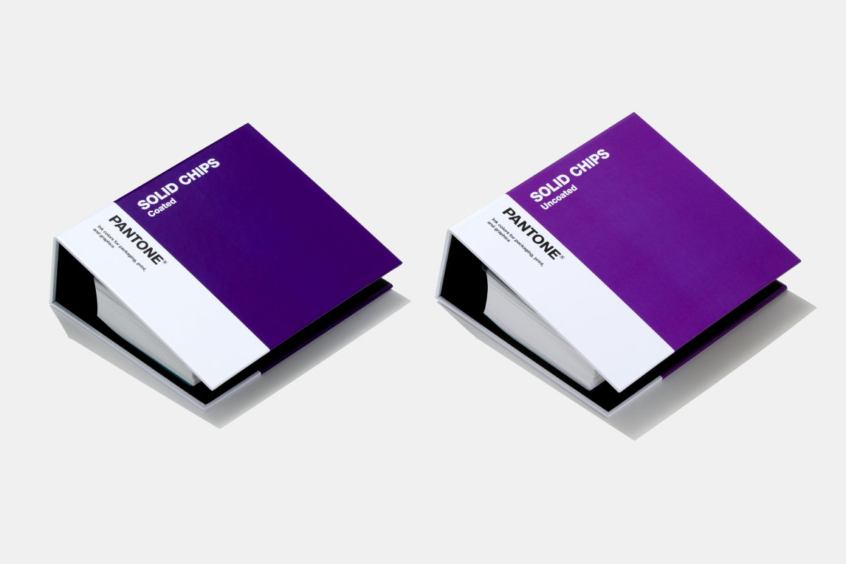 Two solid chips books including Coated and Uncoated colors