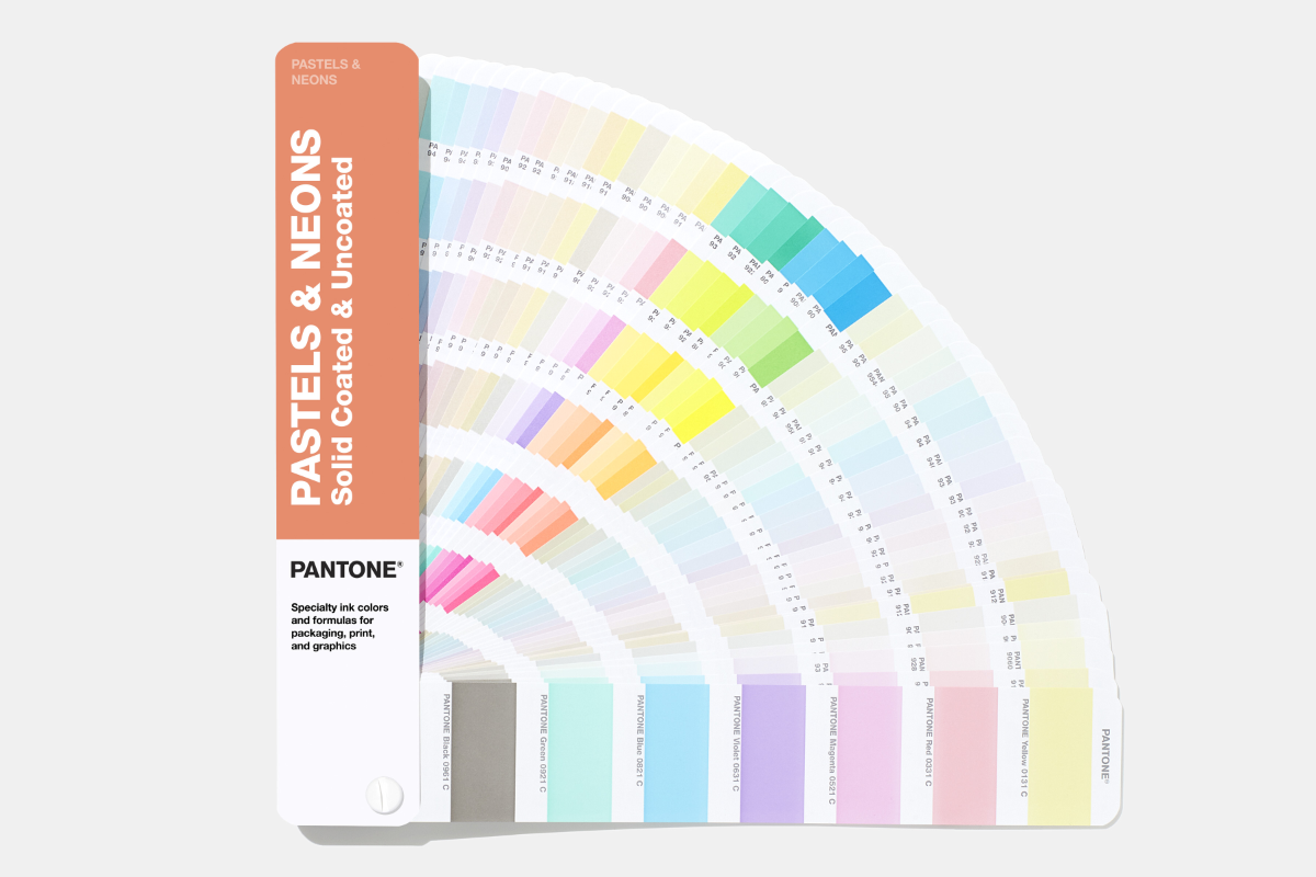 The Pastels and Neons Guide opened showing all pages