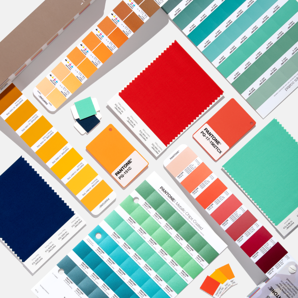 Collection of several Pantone products included in the Definitive Guide to Pantone