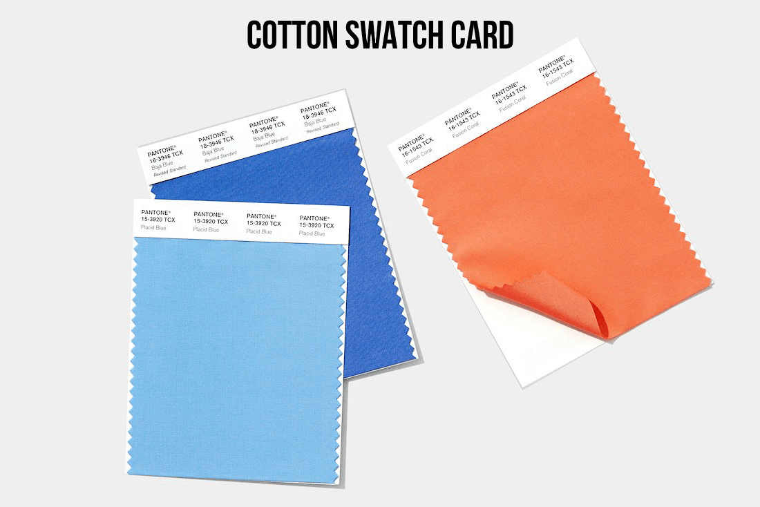 Swatch cards that represent the true standard, not like the cotton books