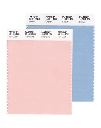 2016 Pantone Color of the Year - Rose Quartz 13-1520 and Serenity 15-3919