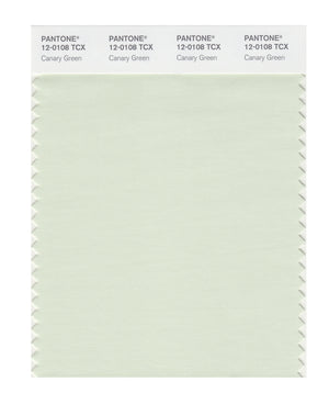 Pantone SMART Color Swatch 12-0108 TCX Canary Green