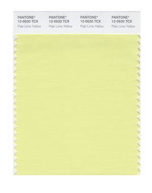 Pantone SMART Color Swatch 12-0520 TCX Pale Lime Yellow