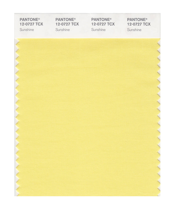 Pantone SMART Color Swatch Card 12-0727 TCX (Sunshine)