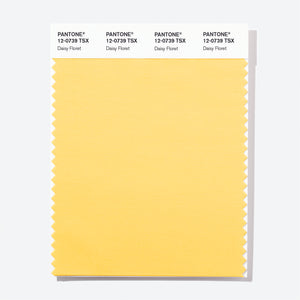 Pantone Polyester Swatch Card 12-0739 TSX Daisy Floret