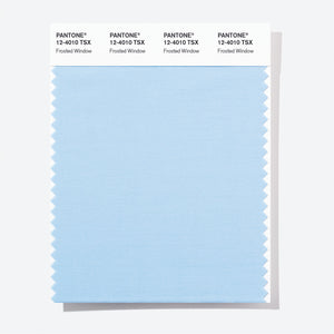 Pantone Polyester Swatch Card 12-4010 TSX Frosted Window