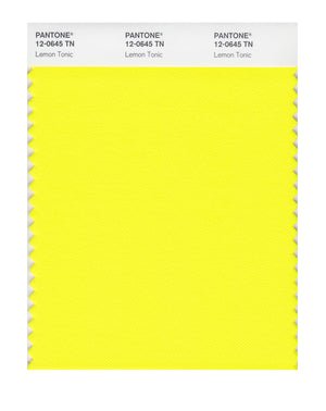 Pantone Nylon Brights Color Swatch 12-0645 TN Lemon Tonic