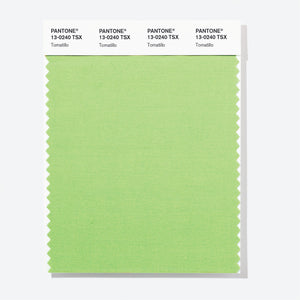 Pantone Polyester Swatch Card 13-0240 TSX Tomatillo
