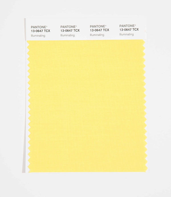 Pantone SMART Color Swatch Card 13-0647 TCX (Illuminating) Color of the Year 2021