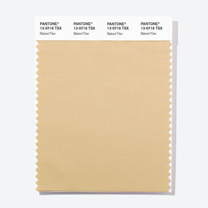 Pantone Polyester Swatch Card 13-0716 TSX Baked Flan