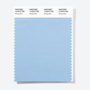 Pantone Polyester Swatch Card 13-4014 TSX Whispy Blue