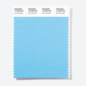 Pantone Polyester Swatch Card 13-4220 TSX Arctic Paradise
