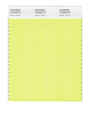 Pantone Nylon Brights Color Swatch 13-0630 TN Safety Yellow