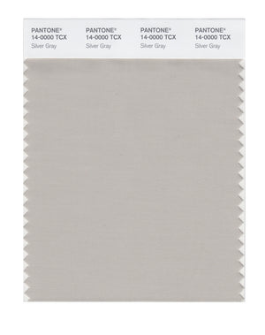 Pantone SMART Color Swatch 14-0000 TCX Silver Gray