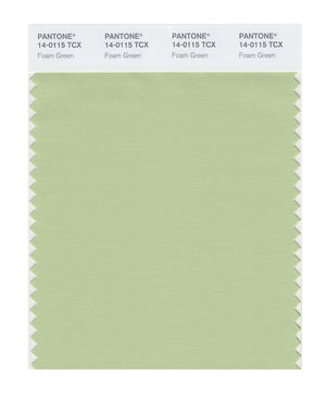 Pantone SMART Color Swatch 14-0115 TCX Foam Green
