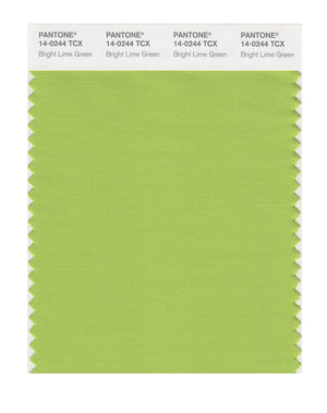 Pantone SMART Color Swatch 14-0244 TCX Bright Lime Green