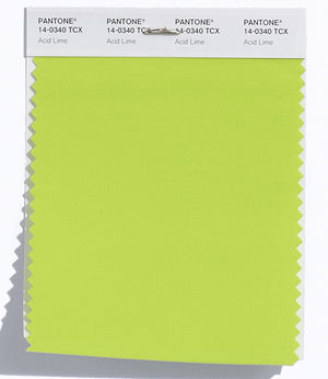 Pantone SMART Color Swatch 14-0340 TCX Acid Lime