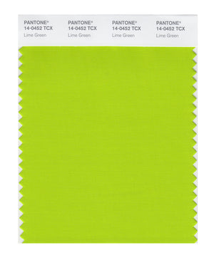Pantone SMART Color Swatch 14-0452 TCX Lime Green
