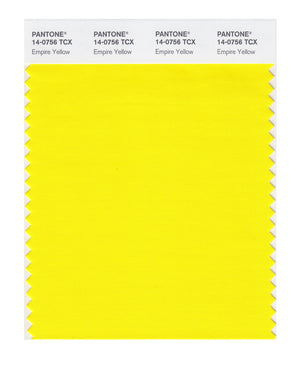 Pantone SMART Color Swatch 14-0756 TCX Empire Yellow