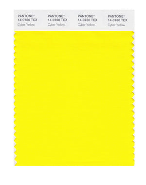 Pantone SMART Color Swatch 14-0760 TCX Cyber Yellow