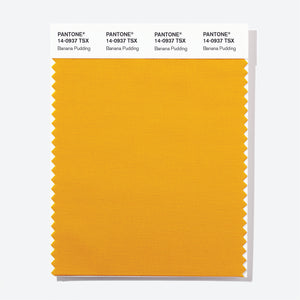 Pantone Polyester Swatch Card 14-0937 TSX Banana Pudding