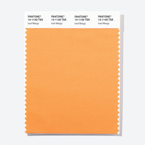 Pantone Polyester Swatch Card 14-1140 TSX Iced Mango