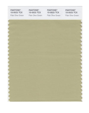 Pantone SMART Color Swatch 15-0522 TCX Pale Olive Green