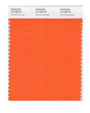 Pantone Nylon Brights Color Swatch 15-1360 TN Shocking Orange