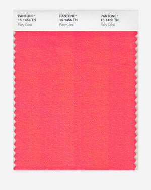 Pantone Nylon Brights Color Swatch 15-1456 TN Fiery Coral