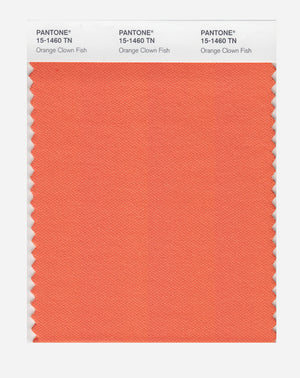 Pantone Nylon Brights Color Swatch 15-1460 TN Orange Clown Fish