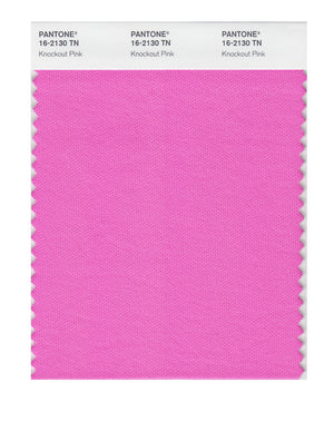 Pantone Nylon Brights Color Swatch 16-2130 TN Knockout Pink