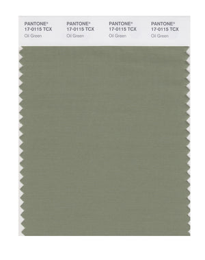 Pantone SMART Color Swatch 17-0115 TCX Oil Green