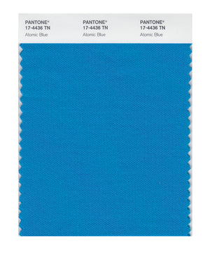 Pantone Nylon Brights Swatch Card 17-4436 TCX (Atomic Blue)