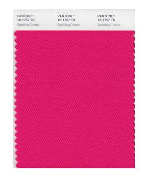 Pantone Nylon Brights Color Swatch 18-1757 TN Sparkling Cosmo