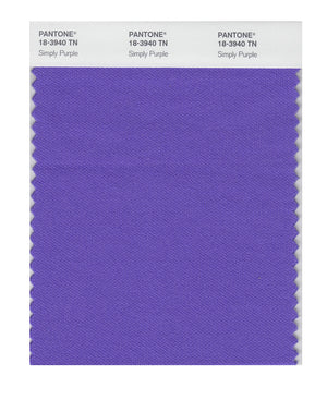 Pantone Nylon Brights Color Swatch 18-3940 TN Simply Purple