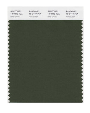 Pantone SMART Color Swatch Card 19-0419 TCX Rifle Green