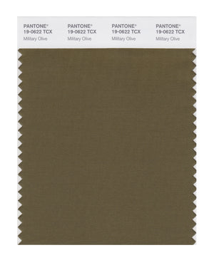 Pantone SMART Color Swatch 19-0622 TCX Military Olive