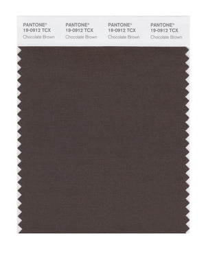 Pantone SMART Color Swatch 19-0912 TCX Chocolate Brown