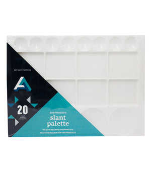 "Art Alternatives San Francisco Slant Palette, 20 Wells, 9"" x 13"" Surface"