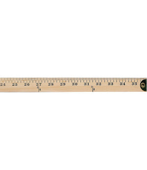 "Wooden Yardstick 36"" with Metal Reinforced Ends"