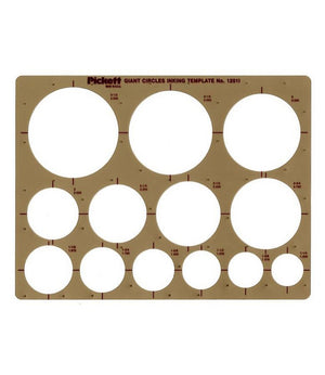 Picket Circles Template (Multiple Sizes)