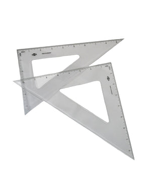Alvin 30°/60° Clear Triangle (Multiple Sizes)