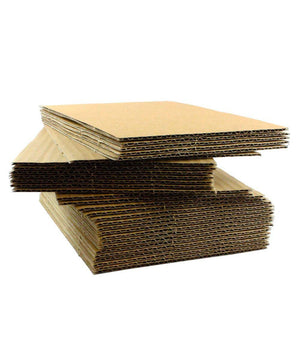 Thin Kraft E-Fluted Corrugated Sheet, 36x48
