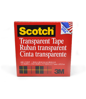 "600 Clear Scotch Tape 3"" Core"