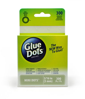 "Glue Dots, Mini 3/16"" Diameter, 300/PACK"
