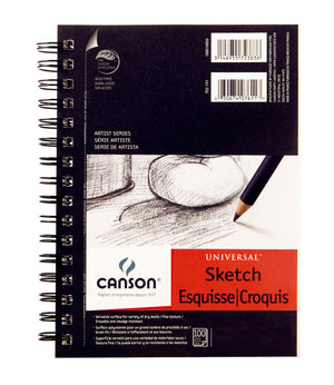 Canson Universal Heavy-Weight Side Spiral Sketchbook (Various Sizes)