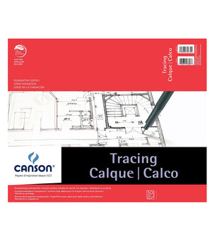 Canson Lightweight, 25lb Tracing Pad, 50sh/pd (Multiple Sizes)
